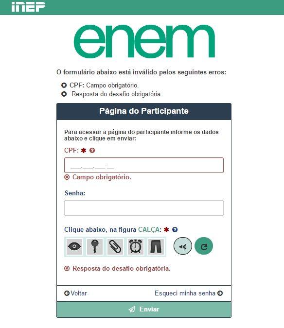 Consulta Nota do ENEM