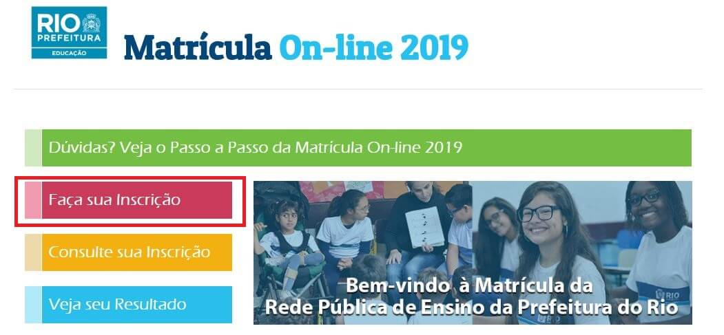 Matrícula RIO 2021 Online Passo a Passo