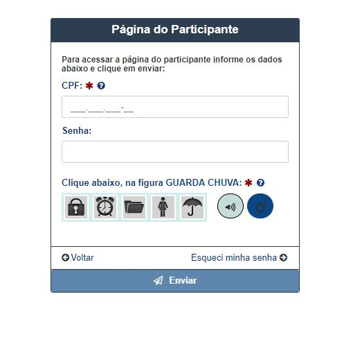 Página do Participante Enem
