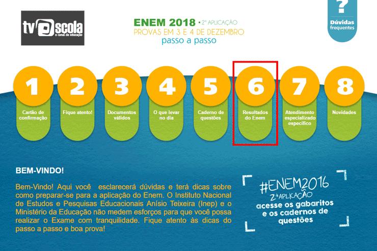 Calendário de Divulgação dos Resultados do ENEM